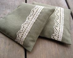 Balsam Sachets in Khaki Linen with Vintage Rustic by SewnNatural, $20.00
