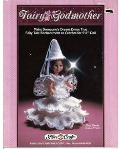 Fairy Godmother Crochet Doll  Pattern Fibre by grammysyarngarden