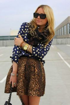 Polka dotted in Leopard print