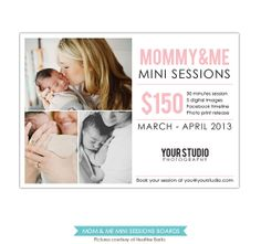 INSTANT DOWNLOAD - Mother's Day Mini Session template - Psd Newsletter  template - E765