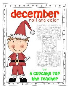 december roll and color {free printables} - A Cupcake for the Teacher - TeachersPayTeachers.com