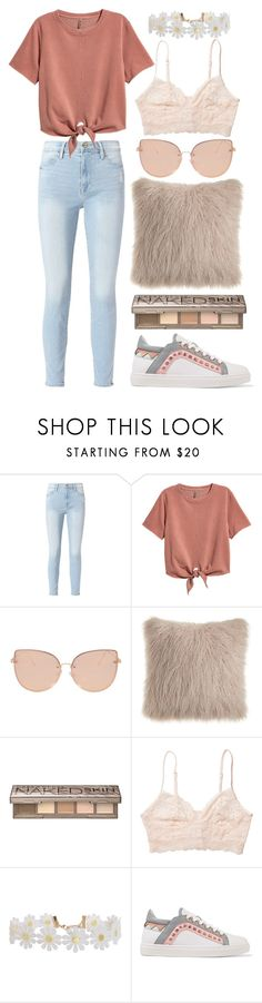 """""""body like a back road"""" by katyapiekarski ❤ liked on Polyvore featuring Frame, H&M, Topshop, Urban Decay, Monki, Humble Chic and Sophia Webster"""