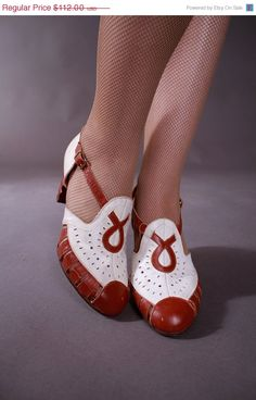 i want these shoes   Vintage 1930s Shoes  Smart Late 30s/Early by FabGabs, $56.00