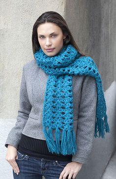 kite stitch scarf, free crochet scarf pattern on Ravelry