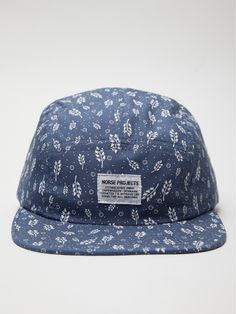 micro pattern on washed blue 5 Panel Hat, Norse Projects, Summer Boy, Mens Caps, Hats For Men, Types Of Fashion Styles, Cute Guys, Caps Hats, Color Patterns