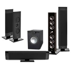 """Klipsch Gallery G-28 5.1 Home Theater System-FREE 650 Watt SUB by Klipsch. $2095.00. What is included in the System 3 Each Klipsch Gallery G-28 2 Each Klipsch Gallery G-16 1 Each PA-120 650 Watt 12"""" Subwoofer   Your favorite blockbuster flicks and esteemed artists deserve more, and the Klipsch® GalleryTM G-28 LCRS speaker is here to give them just that. Best of all, it meets the needs of your favorite soundtracks when utilized as a left, right, center or surround speaker. ..."""