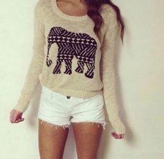 Cute elephant shirt  on We Heart It