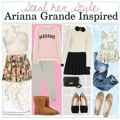 ariana grande steal her style | fashion look from January 2014 featuring Zoe Karssen sweatshirts ...