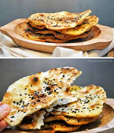 Gluten-Free Flatbreads with Sesame   Vegan Parathas These #glutenfree flatbreads with sesame seeds are extremely easy to make and very versatile! You can eat them just as they are or serve them with a hummus or any other spread or dip.