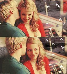 Quinn and Sam (glee) So perfect. I want Quam on glee 3rd season