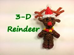 3-D Reindeer Tutorial by feelinspiffy (Rainbow Loom) Copyright© 2014@craftingfantastic