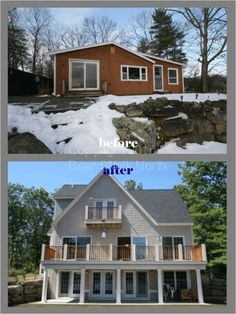 A Complete Bungalow Re Do With Second Story French Doors And