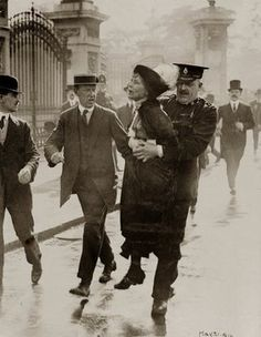 Alice Paul being dragged by police ~ FELLOW WOMEN! Our foremothers fought long and hard for our right to vote. Be thankful and grateful and get out and VOTE! ~ Obama/Biden 2012
