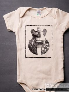 Guitar - Rock Music - Baby One-piece Bodysuit Gender Neutral Baby Clothes, Trendy Baby Clothes, Babies Clothes, Babies Stuff, One Piece Bodysuit, Baby Bodysuit, Baby Onesie, Baby Rocker, Thing 1