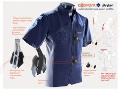 ALLAYANT – A shirt with built-in back support for paramedics | Core77 2012 Design Awards Soft Goods Student Runner Up | By Leonardo Ochoa / Art Center College of Design