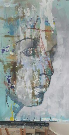 Acrylic portrait in progress. #art #acrylic #painting #portrait #frankforsman #picturesbyfrank #modernart #abstract #expressionism #homedecor #interiordesign #interior