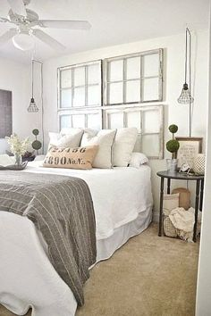 If you like farmhouse bedroom, you will not ever be sorry. If you decide on farmhouse bedroom, you won't ever be sorry. If you go for farmhouse bedroom, you're never likely to be sorry. When you're searching for farmhouse bedroom… Continue Reading → Comfy Bedroom, White Bedroom, Brown Carpet Bedroom, Serene Bedroom, Bedroom Neutral, Neutral Bedding, Bedroom Colors, Modern Farmhouse Bedroom, Farmhouse Style