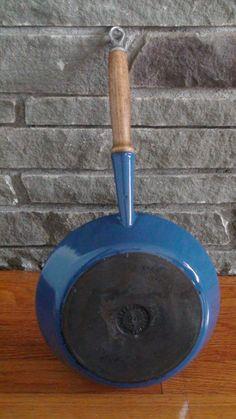 Vintage Le Creuset Blue Enamel Cast Iron by BoomerangModern