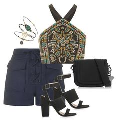 """""""Lace-up shorts"""" by alwayswearwhatyouwanttowear on Polyvore"""