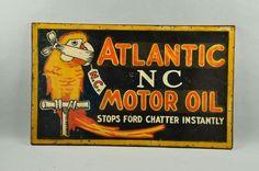 Rare Atlantic NC Motor Oil Sign