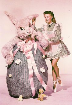 Okay, it isn't a Christmas Card from Vera Ellen and the Easter Bunny, but it is still from a movie star. Vera Ellen, Golden Age Of Hollywood, Vintage Hollywood, Classic Hollywood, Hollywood Icons, Easter Art, Easter Bunny, Easter Bonnets, Easter Crafts
