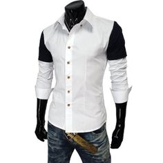 Amazon.com: TheLees Mens Casual Slim fit Long Sleeve Stretchy Dress Shirts: Clothing