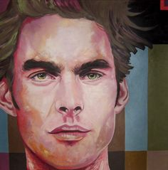 Acrylic on canvas, portret - Title: DreamBoy 100 x 100 centimeters