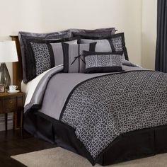 triangle home fashions lush decor geometrica gala 8piece comforter set king black