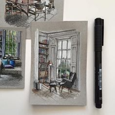 "3,590 Likes, 16 Comments - Phoebe Atkey (@phoebeatkey) on Instagram: ""#tb #art #drawing #pen #sketch #illustration #linedrawing #architecture #interior #interiordesign"""
