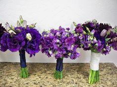 purple bouquets #bouquets