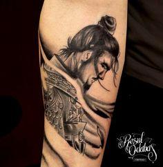 samurai tattoo. love him. Want him on my arm or somewhere!