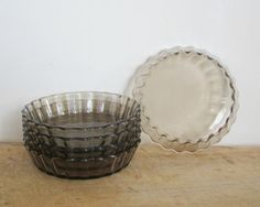 5 vintage french little pie plates Pie dish plate by 5LittleCups
