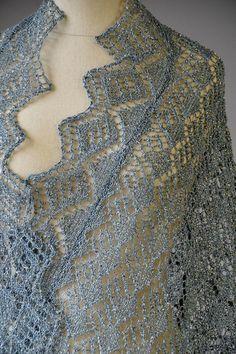 Ravelry: Whimsical Wrap pattern by Universal Yarn Knit Or Crochet, Lace Knitting, Knitting Patterns, Chrochet, Ravelry, Black Tulips, Universal Yarn, Wrap Pattern, Circular Needles