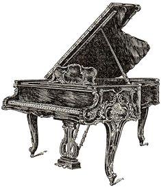 vintage musical instrument clipart