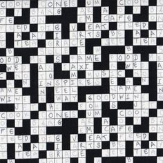 Timeless Treasures C1454 Crossword Puzzle Black White Cotton Quilting Fabric FQ in Crafts, Sewing & Fabric, Fabric | eBay