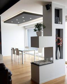 Living Room Partition Design, Living Room Divider, Room Partition Designs, Bedroom False Ceiling Design, Home Room Design, Dining Room Design, Home Interior Design, Living Room Decor Fireplace, Home Living Room