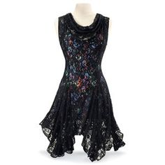 Tumbling Lace Dress - New Age, Spiritual Gifts, Yoga, Wicca, Gothic, Reiki, Celtic, Crystal, Tarot at Pyramid Collection