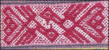 Andean textile pattern -- hand loomed.