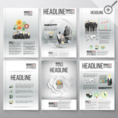 Infographic templates for brochures by VectorShop on Creative Market