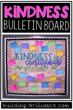 Kindness is Contagious. Can you catch it?Encourage a classroom community built on kindness with this FREE interactive bulletin board! Behavior Bulletin Boards, Counseling Bulletin Boards, Writing Bulletin Boards, Kindness Bulletin Board, February Bulletin Boards, Elementary Bulletin Boards, Kindergarten Bulletin Boards, Interactive Bulletin Boards, Bulletin Board Ideas Middle School
