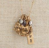 Personalized Eclectic Gold-Filled Charm Necklace