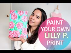 How to Paint Your Own Lilly Pulitzer Floral Print - YouTube