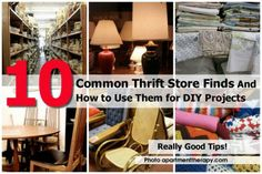 10 Common Thrift Store Finds And How to Use Them for DIY Projects