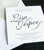 Inbjudningskort, bröllopsinbjudan. Monogram. Anna Göran design - Pappersboden