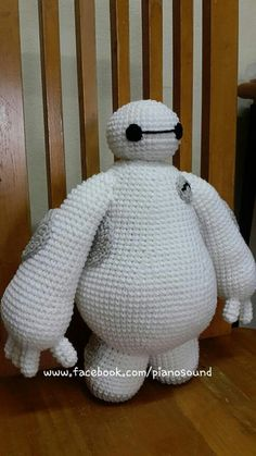Baymax amigurumi crochet pattern doll Big hero 6 by Pianosound