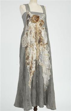 Great inspiration for altering clothing Nuno-felted dress with rusted gauze | Pam Hovel