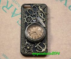 Steampunk pocket watch iphone 5 case,iphone 5s case,antique iphone 4 case,iphone 4s case,retro iphone 5c case,steampunk cellphone cases