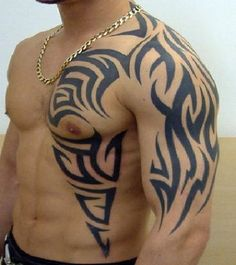 The 22 best Rib Tattoo For Men Tribal Chest Sketches images on ...