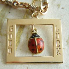 Vintage enamel and hand-engraved good luck lady bug charm ~ A Genuine Find Vintage Charm Bracelet, Charm Bracelets, Unique Vintage, Vintage Silver, Jerri Blank, Engraved Locket, Spanish Dancer, Golden Life, Lady Bugs