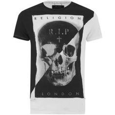 Religion Men's Skull Print Crew Neck T-Shirt